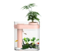 Аквариум Xiaomi Geometry Amphibious Ecological Fish Tank Separable Humidifier Pink